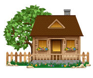 Small wooden house royalty free illustration