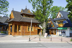 Small wooden house called Pocztowka in Zakopane Royalty Free Stock Photos
