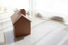 Small wooden house in the morning Royalty Free Stock Photos