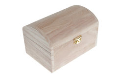 Small Wooden jewell box closed Stock Image