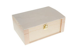 Small Wooden jewell box closed Royalty Free Stock Photography