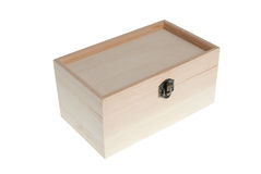 Small Wooden jewell box closed Stock Photos