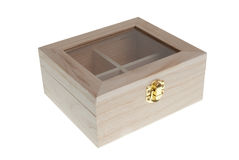 Small Wooden jewell box closed Royalty Free Stock Photo
