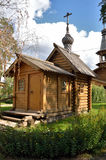 Small wooden orthodox chapel with a dome Stock Images