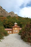 Small wooden orthodox church. Royalty Free Stock Photography
