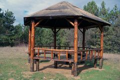 Small wooden pavilion Royalty Free Stock Image