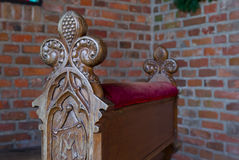 Church pew Stock Image