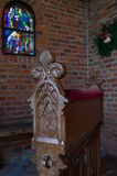 Chapel pew Royalty Free Stock Image