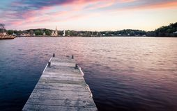 Small wooden pier Stock Photography