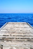 Small wooden pier Royalty Free Stock Images
