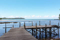 Small wooden pier. In Samed island,Thailand Royalty Free Stock Image