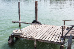 Small wooden pier Stock Image