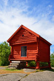 Small wooden red house Royalty Free Stock Photos