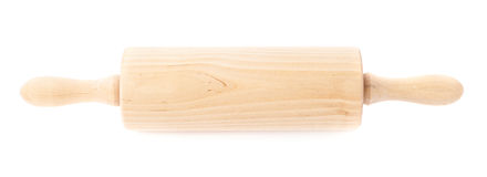 Small wooden rolling pin isolated Stock Image