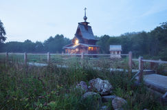 Small wooden russian-orthodox church Royalty Free Stock Photos