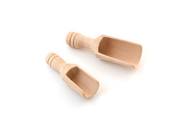 Small wooden scoops Royalty Free Stock Photography
