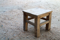 Small wooden seat Royalty Free Stock Photos
