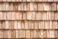 Small wooden shingles Stock Photo