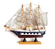 Small wooden ship. Royalty Free Stock Images