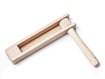 Small wooden sound making toy Stock Photos