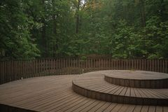 Wooden deck royalty free stock image