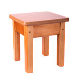 Small wooden stool Royalty Free Stock Image