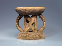 Small wooden stool natives Zimbabwe Stock Photo