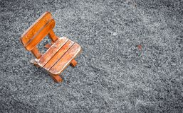 Small wooden stool Royalty Free Stock Photos