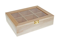 Small Wooden tea box closed Royalty Free Stock Image