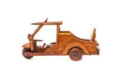 Small wooden toy car Stock Photos