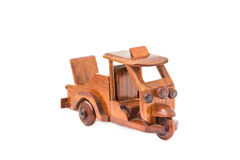 Small wooden toy car Stock Images