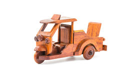 Small wooden toy car Stock Photos