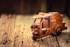 Small wooden toy car Royalty Free Stock Photo