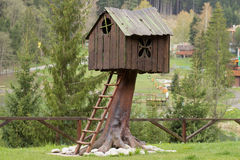 Small wooden tree house Royalty Free Stock Photography