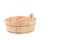 Small wooden washtube Stock Photos