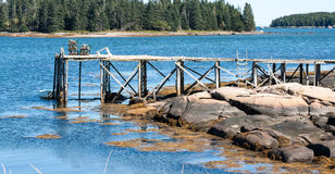 Small wooden Wharf Stock Image