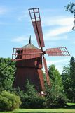 Small Wooden Windmill. Restored wooden windmill traditional for Western Finland Royalty Free Stock Image