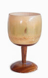 Small wooden wine glass Stock Photo