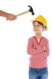 Small worker royalty free stock image