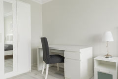 Small working space in bedroom Royalty Free Stock Photo