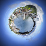 Small world sphere Stock Photo