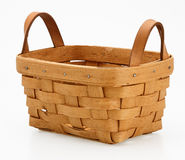 Small woven wooden basket Royalty Free Stock Images