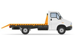 Small wrecker truck van lorry for transportation of car stock ve Stock Photography
