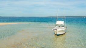 Small yacht on Zanzibar shores Royalty Free Stock Image