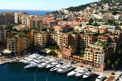 Monaco marina. Small yachts harbour in Monaco area Stock Photos