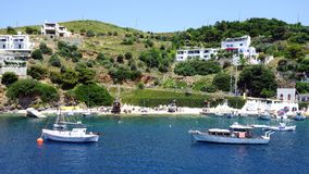 Small Yachts, Skyros Greek Island Royalty Free Stock Images