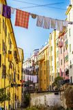 Small yard in old town La Spezia, Italy Stock Photos