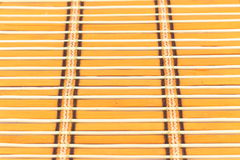 Small yellow bamboo curtain. Close up background from yellow bamboo Royalty Free Stock Photos