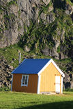 Small yellow cabin Stock Images