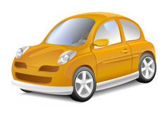 Small yellow car Stock Images